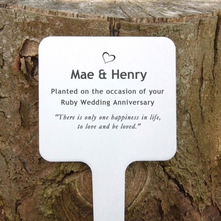 Perfect Personalised Pet Memorial Tree Plaques TR85